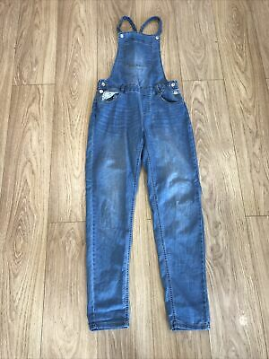 Girls Dungarees Age 13 Years The Next Blue Denim E1805 • 11.99£
