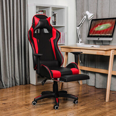 £63.99 • Buy Office Chair Gaming Chair Executive Swivel Leather Recliner Computer Desk Chairs
