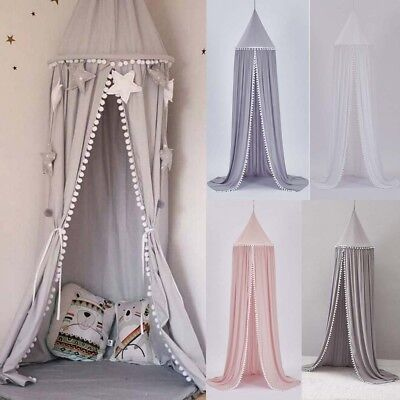 Round Ball Children's Bed Canopy Bedcover Mosquito Net Curtain Bedding Dome Tent • 19.96£