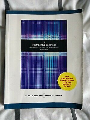 £10 • Buy INTERNATIONAL BUSINESS- Competing In The Global Marketplace- McGraw- Hill