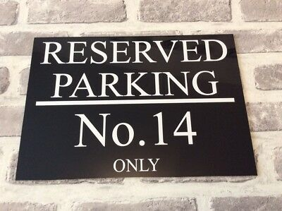 REFLECTIVE PERSONALISED CUSTOM METAL PRIVATE RESERVED NO PARKING SIGN 4 X Sizes • 14.99£