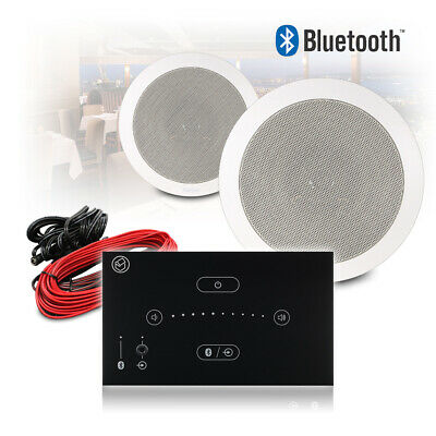 Home Stereo Bluetooth Speaker And Amplifier HiFi Music System Pair In-Ceiling • 229£