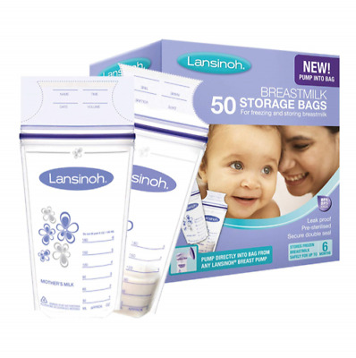 Lansinoh Breast Milk Storage Bags Breastmilk Pouches (100 Bags)  • 15£