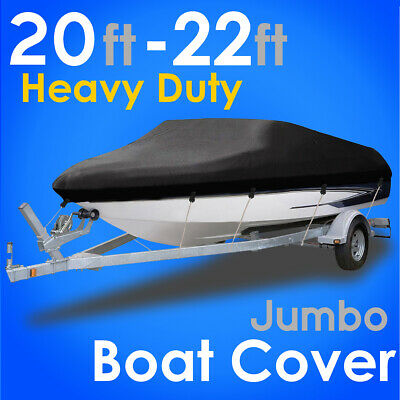 20-22Ft Boat Cover Waterproof Dust Protector Heavy Duty Speedboat V-Hull Cover • 41.89£