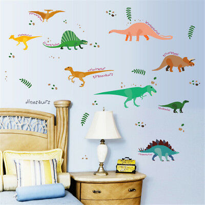 DIY Many All Kinds Of Dinosaurs Wall Stickers Decals For Children Room JFLU • 3.48£
