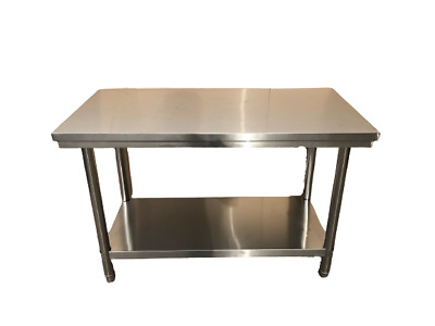 £110 • Buy 120x60cm Stainless Steel Commercial Catering Table Kitchen WorkTop Prep Table