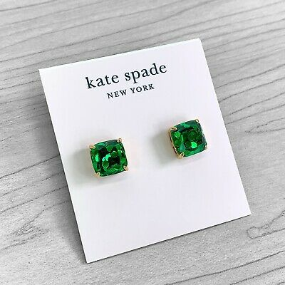 $ CDN30.61 • Buy Kate Spade Mini Emerald Green Glitter Square Stud Earrings