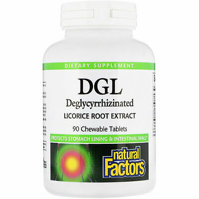 Natural Factors, DGL, Deglycyrrhizinated Licorice Root Extract, 90 Chewable Tabs • 15.39£