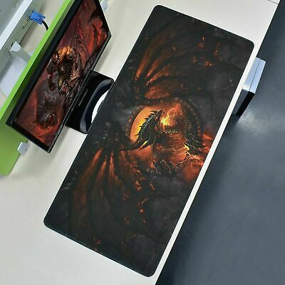 Extra Large XXL Gaming Mouse Pad Fire Dragon Desk Mat Computer Keyboard 90x40cm~ • 7.89£