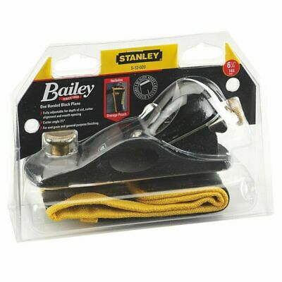 STANLEY 512020 6-1/4in Block Plane With Storage Pouch / Case. Wood Workshop. NEW • 37.75£