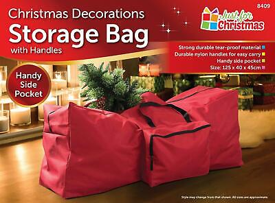 Christmas Lighting Trees Decorations Storage Bag With Handles Durable • 7.85£