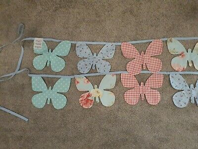 Laura Ashley Butterfly Bunting, Gingham Floral Ditsy Polkadot • 12£