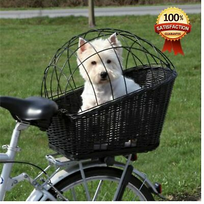 Rear Mounted Bicycle Rack Travel Cycling Basket Dog Cat Bike Carrier Wicker NEW! • 42.99£