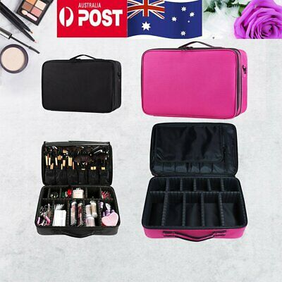 AU23.90 • Buy Professional Makeup Bag Portable Cosmetic Case Travel Carry Storage Box