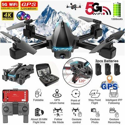 AU166.99 • Buy 2.4/5G 4K Drone X Pro With HD Camera Drones GPS WiFi FPV RC Four Axis Quadcopter