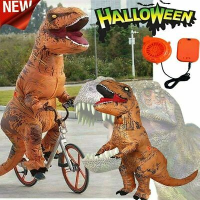 £34.49 • Buy Halloween Inflatable T-REX Costume Dinosaur Adults Cosplay Party Blow Up Suit