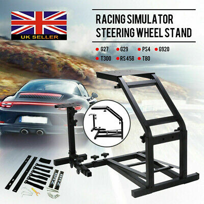 Racing Simulator Steering Wheel Cockpit Stand For Logitech G27 G29 G25 PS4 G920 • 53.88£