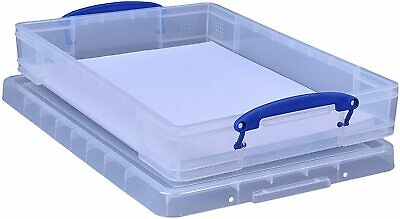 £13.89 • Buy Really Useful Storage Box 10 Litre Clear A3 Paper Storage Box