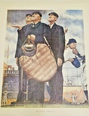 $ CDN60.53 • Buy Three Umpires : Norman Rockwell Art Print On Canvas For Framing 13x16  Total