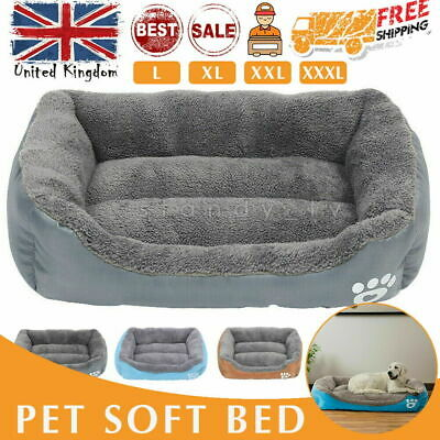 Dog Beds Kennel Blanket Extra Large Pet Cushion House Waterproof Soft Warm Gifts • 18.99£
