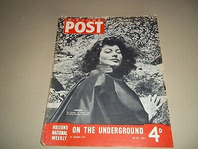 Picture Post Magazine  27 January 1951 London Underground Aborigines  • 6.50£