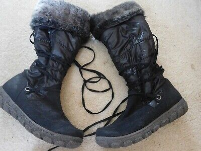 Ladies Pavers Mid-calf Boots Size 5 / 38 Eur Black (worn Once) • 20£
