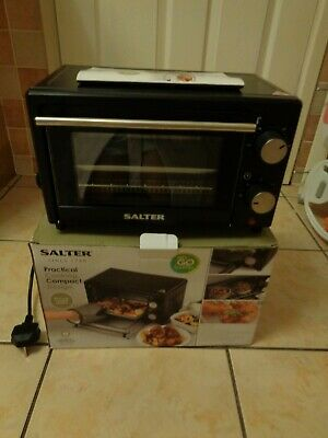 Salter Mini 9l Compact Toaster Portable Oven 650w Table Top Portable Cook/bake • 50£