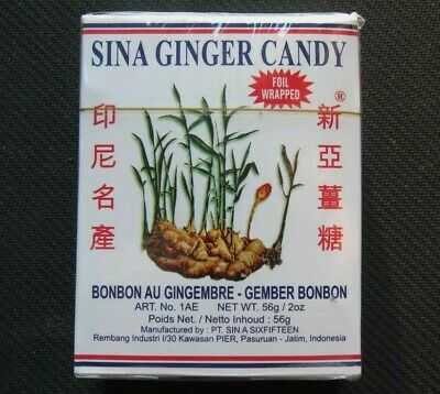Indonesian Sina Ginger Candy Ting Ting Jahe Chewy Sweet Individually Wrapped • 4.49£