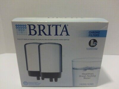 Brita Tap Water Filter, Filtration System Replacement 2ct, Chrome  • 14.54£