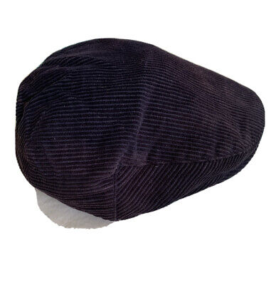 Peaky Blinders Style, English Country, Flat Cap 'EWM' Navy Blue - Size Small • 0.99£