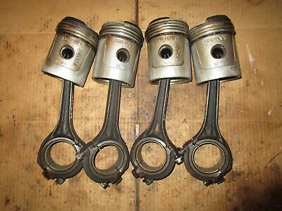 $250 • Buy 4 - M & W AP-70 Pistons W/ Connecting Rods For Farmall H - 3 7/16 Inch Bore