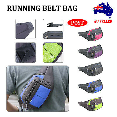AU15.49 • Buy Large Waist Bag Bum Bag Wallet Pocket Waterproof Sports Travel Money Pouch