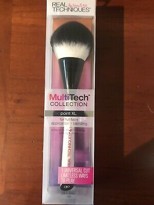 Brand New Boxed Real Techniques Powder Bronzing Large White Makeup Face Brush • 9.99£