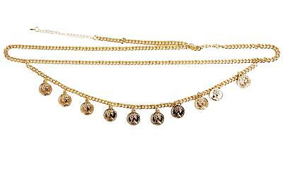 Gold Small Coin Chain Belt • 7£