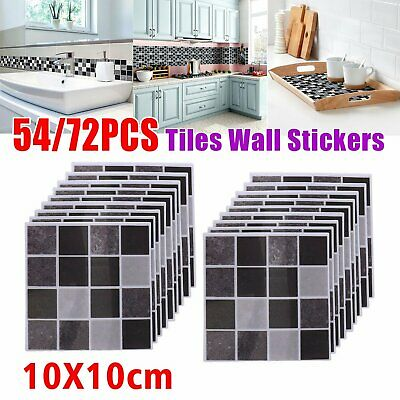 54X Kitchen Tile Stickers Bathroom Mosaic Sticker Self-adhesive Wall Decal Decor • 8.27£