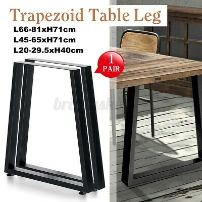 2x Industrial Dining Table Legs Trapezium Shape Coffe Table Desk Bench Furniture • 55.88£