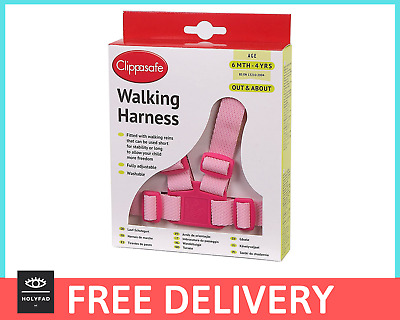 CLIPPASAFE Baby / Toddler Safety Harness & Reins, Adjustable PINK (BNIB) • 7.50£