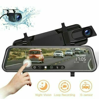 AU138.99 • Buy TOGUARD Dual 1080P Dash Cam Backup Camera Dash Cam Front And Rear IPS 10  Mirror