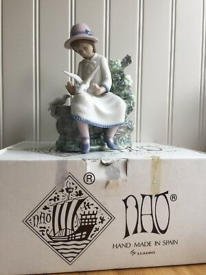Beautiful NAO By Lladro ''Feasting Doves'' 00383 Perfect Boxed Rare • 57£