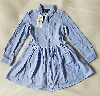 Brand New With Tags Polo Ralph Lauren Full Sleeve Dress For Girls Size 6  • 34.99£