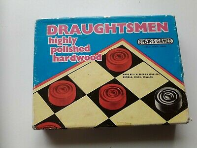 Vintage Spears Games Draughtsman Red And Black Draughts Set  • 4.50£
