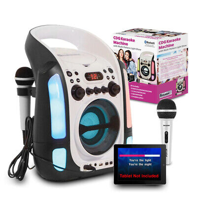 Karaoke Machine Player CD+G With 2x Microphones And Family Party Songs Music CD • 82£
