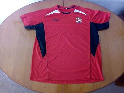Wigan Warriors Training Shirt Size XXL Red ISC Rugby League • 14.99£