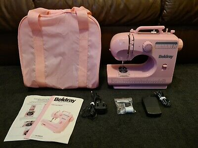 Beldray Pink Sewing Machine 12 Stitch Bag And Extras - Tested - Kids Craft Gift • 64.99£