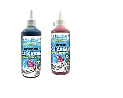 Raspberry And Bubblegum Ice Cream Topping Flavour Sauce 2Pack Bundle Syrup To... • 13.99£