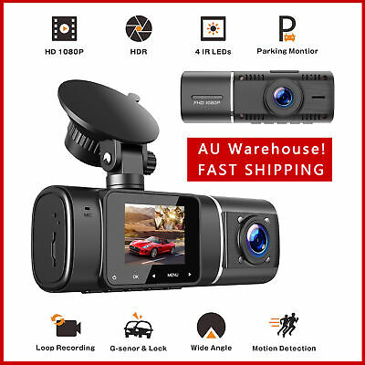 AU82.62 • Buy Car Recorder Camera Dual Dash Cam 1080P With IR Night Vision For Uber Cars Truck