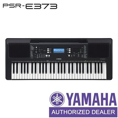 AU399 • Buy Yamaha PSRE373 61 Key Note Portable Digital Piano Keyboard Touch Response - NEW