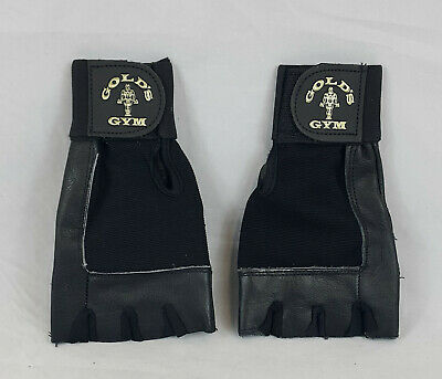 GOLD's GYM Weightlifting Gloves, Leather/Stretchy Cloth - Stk Clearance Lot Of10 • 25£