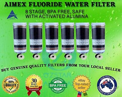 AU110 • Buy Aimex®️ 8 Stage Water Filter Fluoride Water Filter Reduction Control Removal X 6