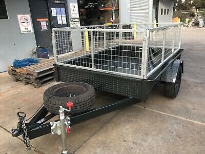 AU1669.50 • Buy Box Trailer 7X5 FT  H DUTY WITH CAGE  7x4 8x4 8x5 9X5 10X5 ALSO AVAILABLE